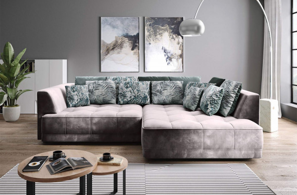 """Ecksofa """"Arezzo"""" Big Sofa mit XXL-Sitz- und Liegefläche - elektrisch verstellbar"""