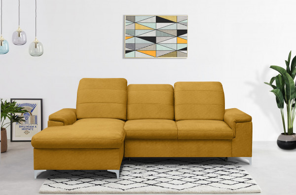 Ecksofa Torino Longchair - all in one - und Bettfunktion