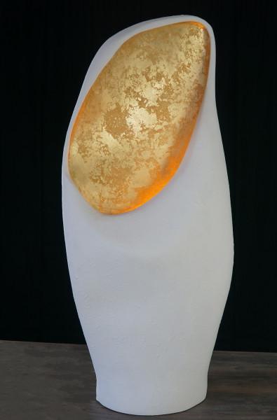 Stehlampe NATURA grande in Natur mit Blattgold