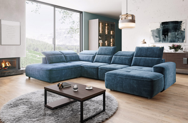 Wohnlandschaft Ferrara XL in vier Farben